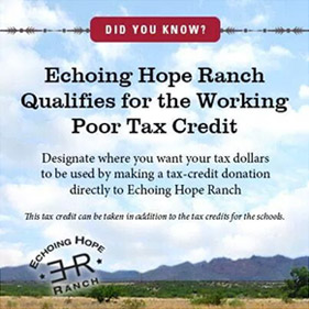 Echoing Hope Ranch Qualifies for the Working Poor Tax Credit